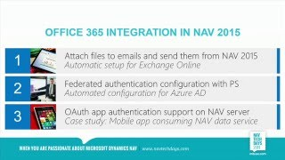 NAV TechDays 2014 - Office 365 Integration and Document Reporting In NAV 2015   Focus on Simplicity