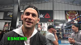 UFC Superstar Dominick Cruz Visiting Mikey Garcia In Camp EsNews Boxing