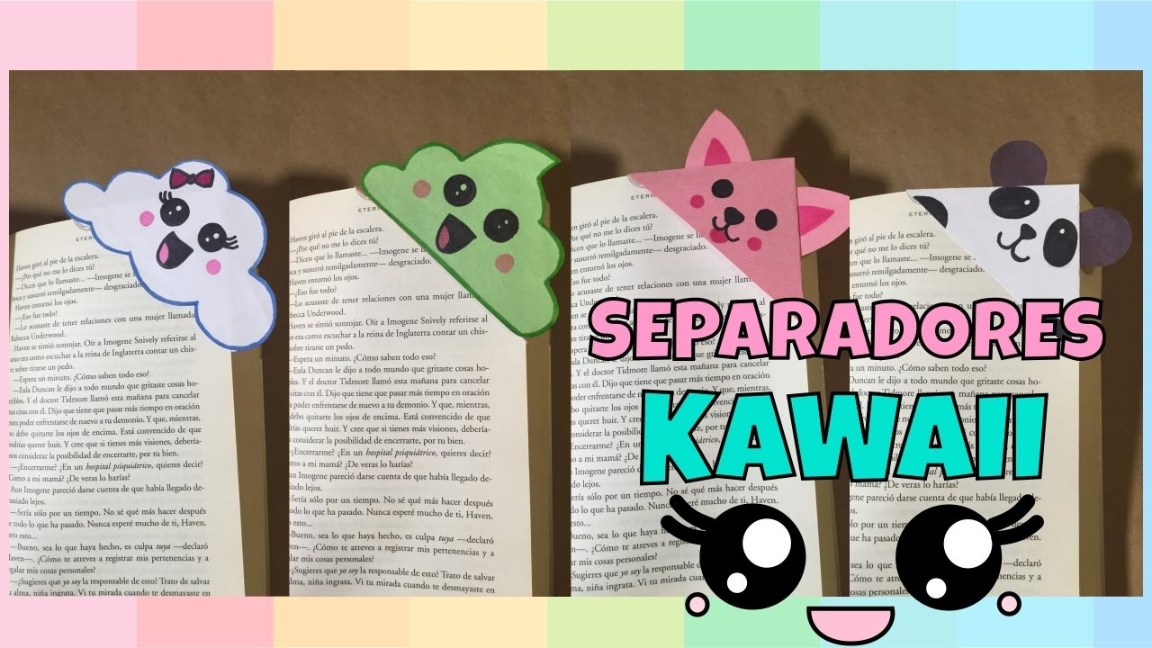 Separadores Kawaii para libros! - YouTube