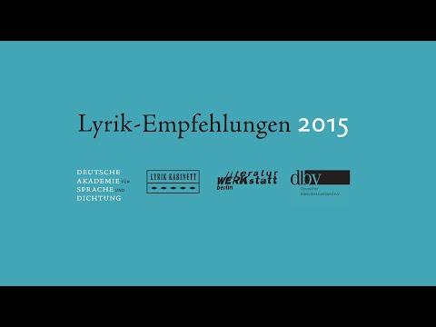 Lyrik Empfehlungen  - Marcel Beyer Michael Braun