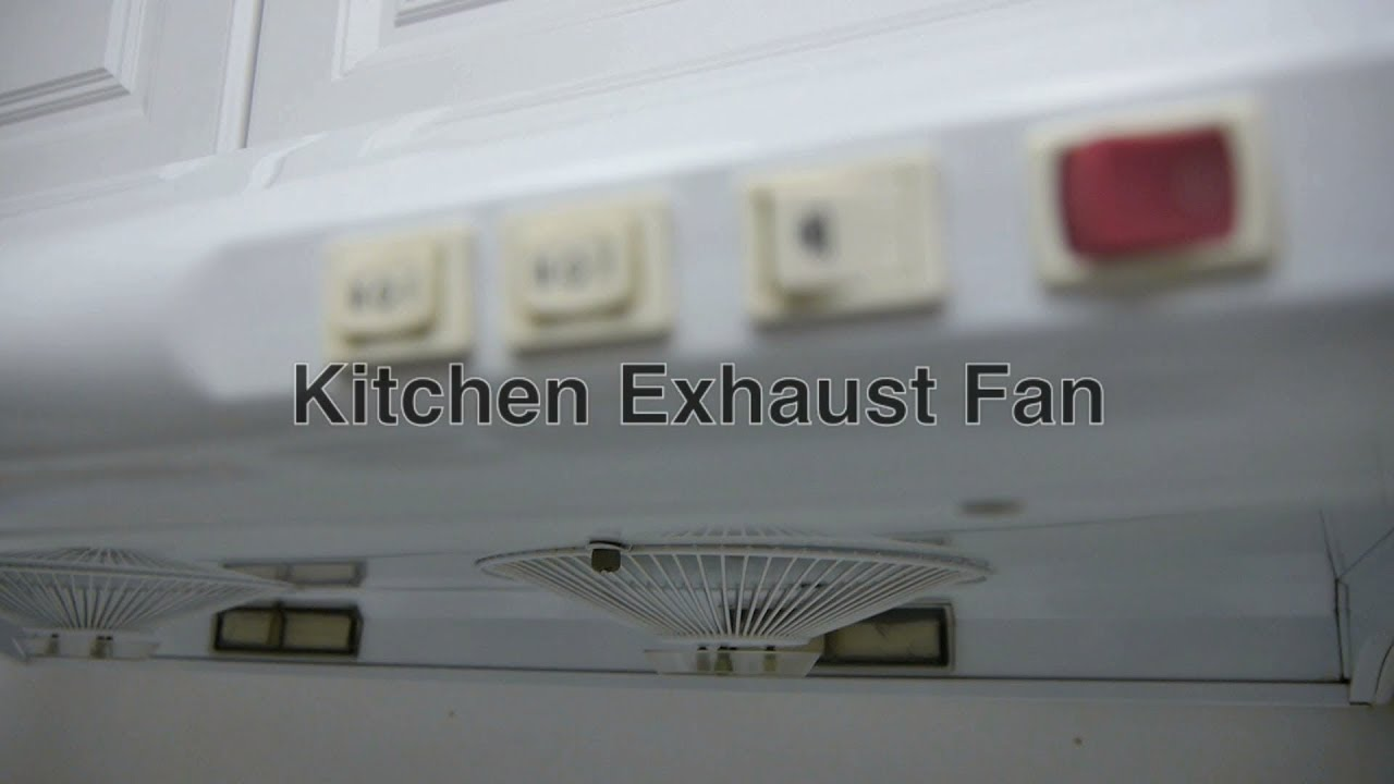 Kitchen Exhaust Fan Hood To Vent Cooktop Stove Smoke From Range Cooking Burners For Best Ventilation