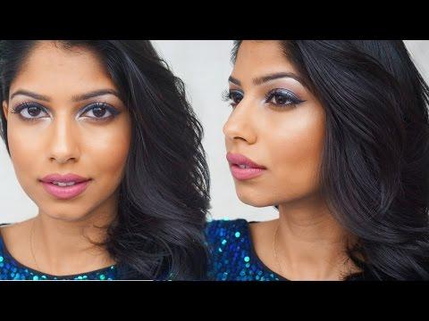 New Years Party Makeup Tutorial!   Colorful glitter eyeshadow   Arshia Makeup thumbnail