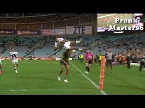 NRL Sisa Waqa Lands On His Head - 2013 NRL Finals- FIRST ON YOUTUBE!