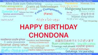 Chondona   Languages Idiomas - Happy Birthday