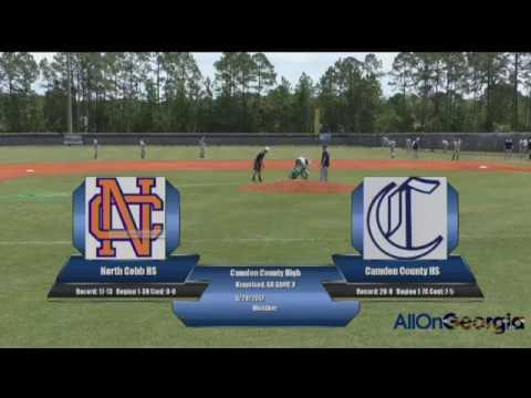 Camden High Baseball VS North Cobb High 4 29 17 Game 3