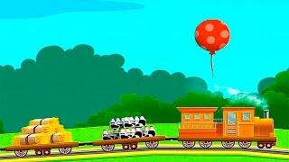 Поезд для детей с грузовыми вагонами платформами - Мультфильм Игра про паровозик(Поезд для детей в этом весёлом мультфильме-игре обязательно понравится маленьким любителям всяких железны..., 2016-08-06T07:11:05.000Z)