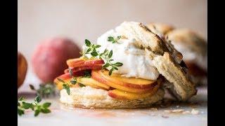 Sweet Peach Thyme Shortcakes