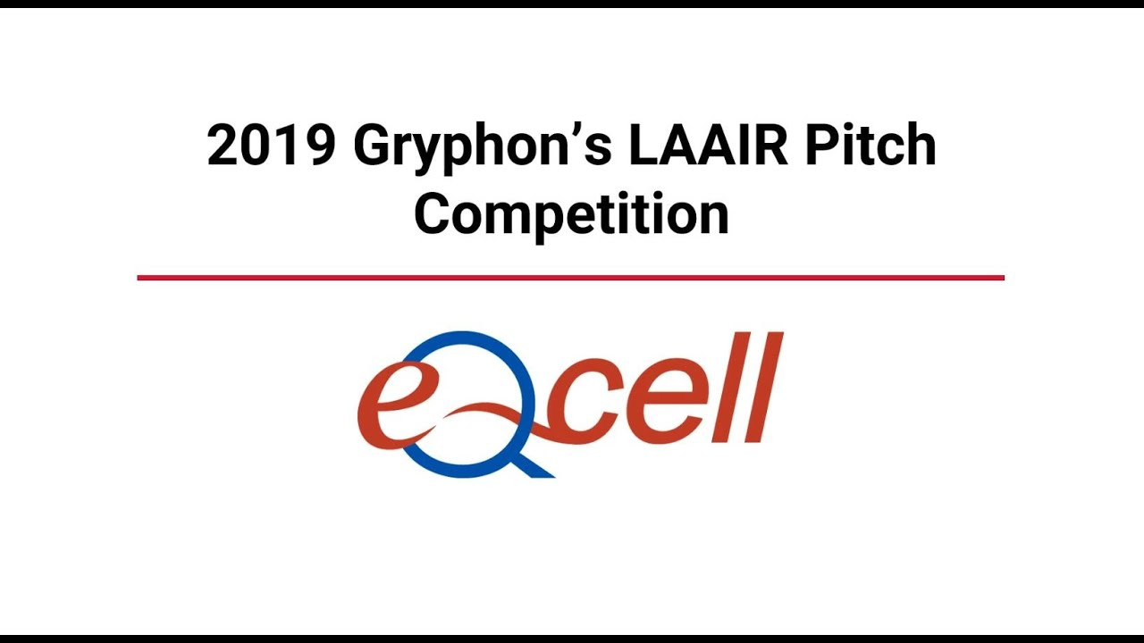 Watch eQcell founder, CEO & CSO Thomas Koch pitch at the 2019 Gryphon's LAAIR Pitch Competition.