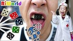 아빠! 사탕 너무 많이 먹지 마세요. 리원이의 재밌는 치과 의사놀이 병원놀이 장난감 놀이 Funny hospital play  RIWORLD 리원세상