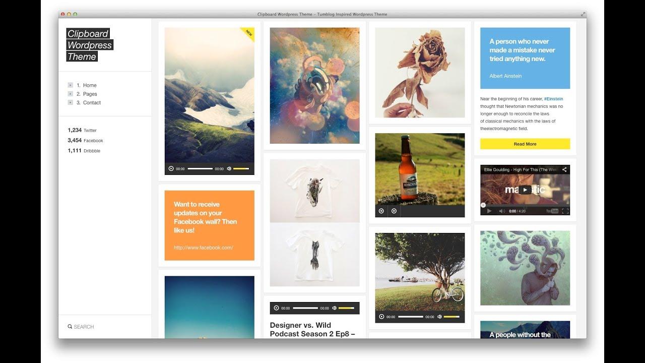 Best Tumblr Style WordPress Themes 2013 - YouTube