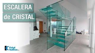Escalera de cristal en Tenerife - montaje completo