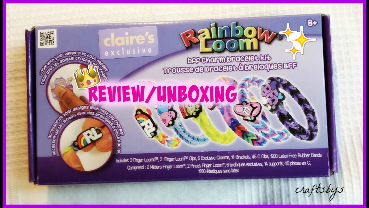 Claire's Exclusive Bff Charm Bracelet Kit Review Rainbow Loom