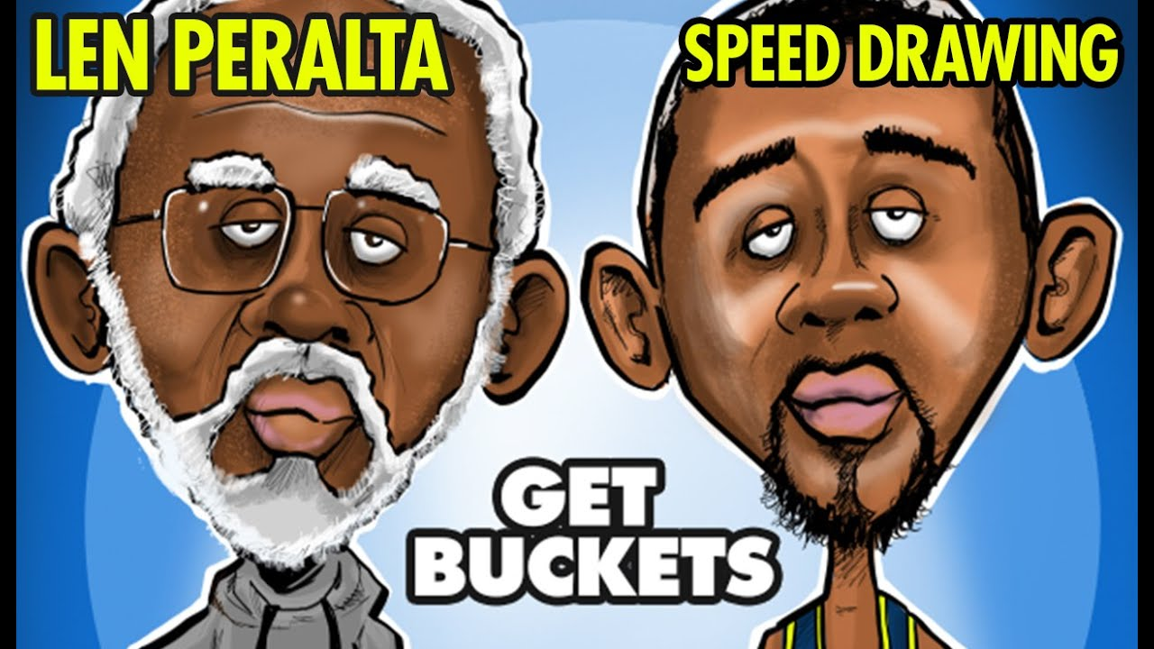 LEN PERALTA Get Buckets Speed Drawing Kyrie Irving Uncle Drew