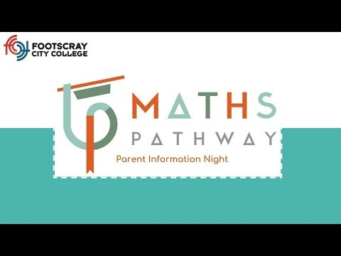 Maths Pathway Parent Information Session #1 - YouTube