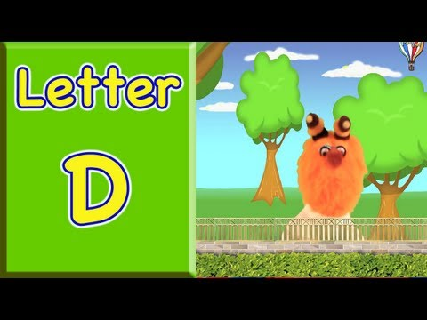 the letter d learn words that begin with the letter d for toddlers and preschool children youtube