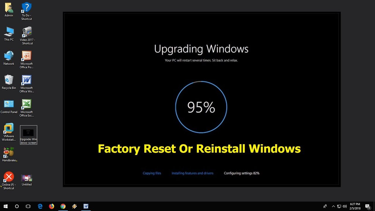 how to factory reset an asus laptop windows 10
