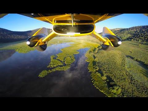 Flying through Beautiful Fogged Valley