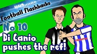 Paolo Di Canio pushes the ref! Football Flashback No10 (Paul Alcock Parody funny cartoon)