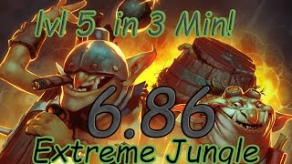 dota 2 6 86 jungle techies fast level 5 3 min
