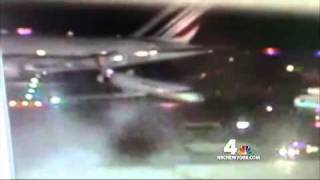 Air France Airbus 380 jet hits Delta Comair airplane at JFK airport