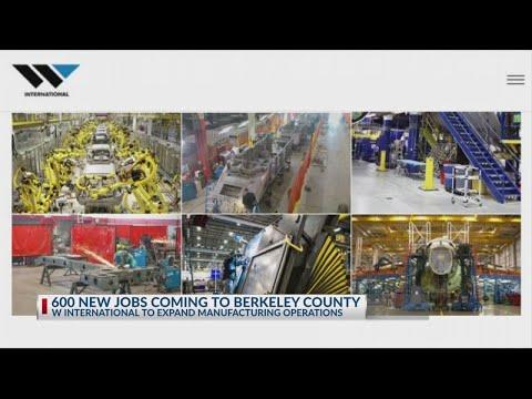 600 new jobs coming to Berkeley County