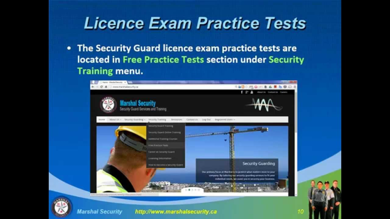 free security guard license test