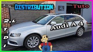 Remplacer la  Courroie de Distribution Audi A4 2l tdi 143cv  16 valves de A a Z