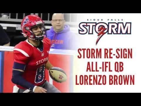 Storm Re-Sign All-IFL QB Lorenzo Brown