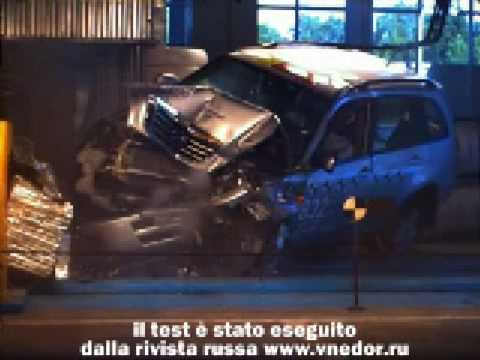 DR5 crash test. Auto italiana o la cinese Chery Tiggo?