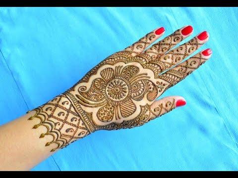 DIWALI SPECIAL HENNA MEHNDI TRADITIONAL INDIAN DESIGN | RAJASTHANI MARWARI DIWALI MEHENDI FOR HANDS