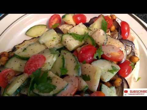 falafel-spiced-chickpeas-and-eggplant-with-israeli-salad