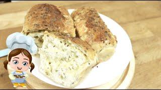 Нафаршируйте тесто и домашний хлеб с сыром будете готовить на завтрак, обед и ужин - простой рецепт