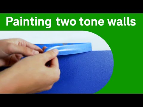 How to paint a two tone wall - Domain