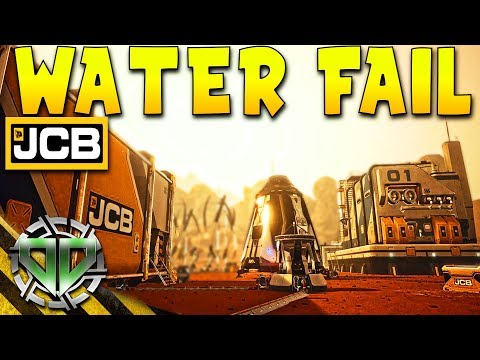 JCB Pioneer Mars Gameplay : Water, Warehouse, & FAIL! (PC Let's Play Sandbox)