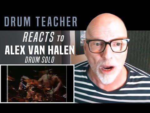 Drum Teacher Reacts to Alex Van Halen - Drum Solo