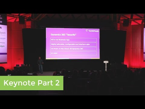 User Day 2017 Keynote Part 2: Dynamics 365