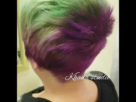 Креативная стрижка и краска волос