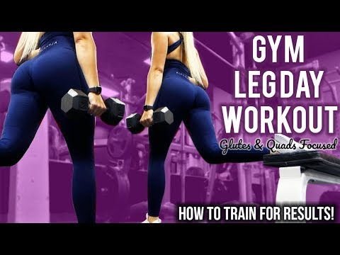 IT'S LEG DAY! | Build your GLUTES and QUADS | Complete Workout
