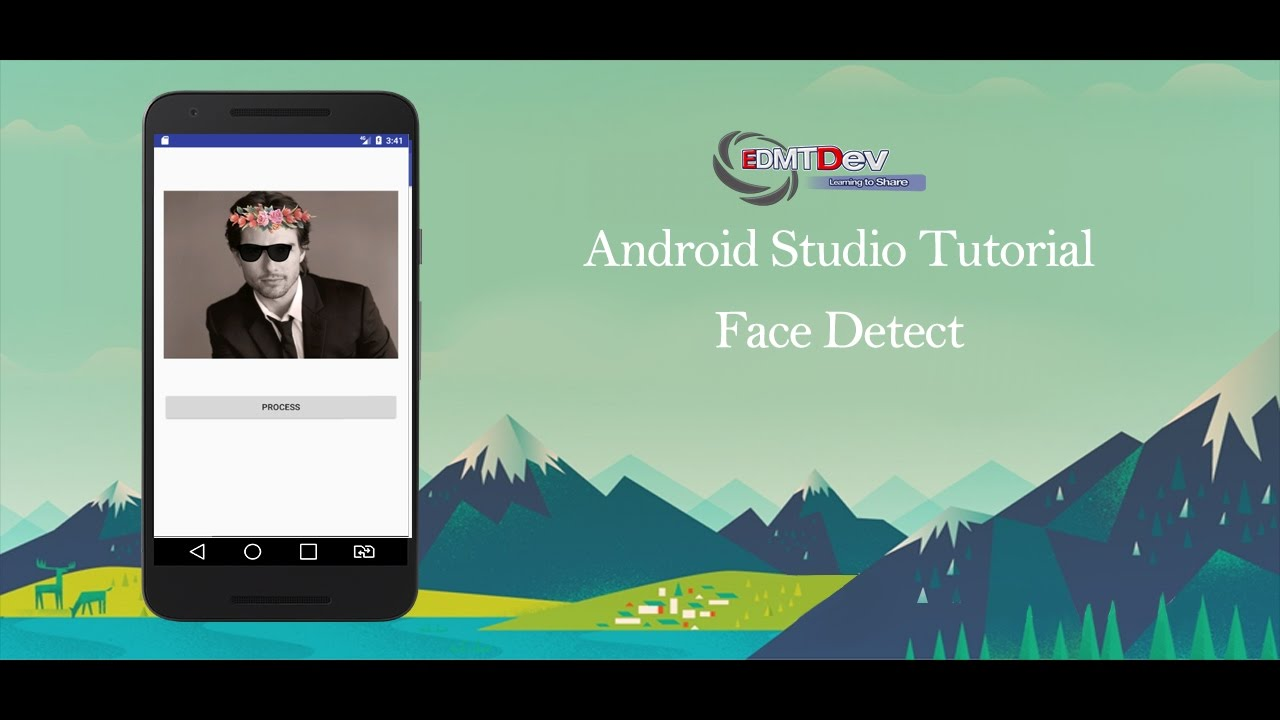 Android Studio Tutorial - Face Detection using Google Vision