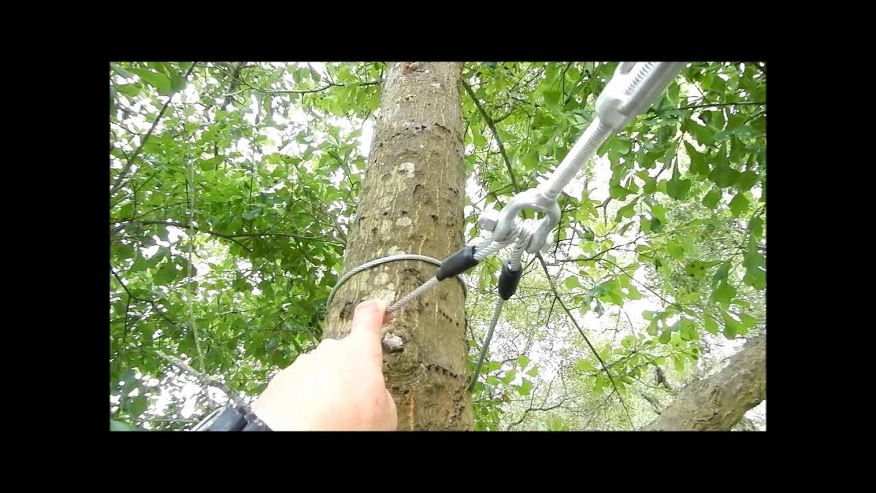slackers zipline installation youtube