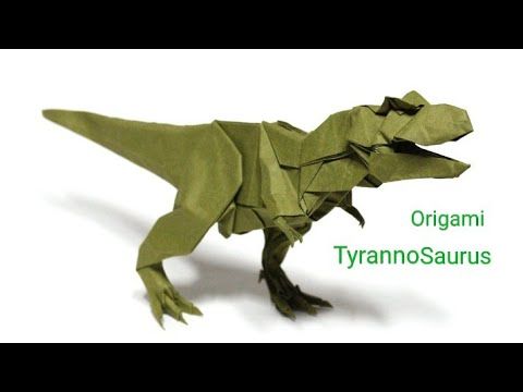 How To Make A Origami Tyrannosaurus Rex Instructions Easy By Creators Come Youtube