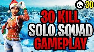 INSANE 30 Kill Solo Squad Gameplay! (Fortnite Battle Royale Controller vs PC)