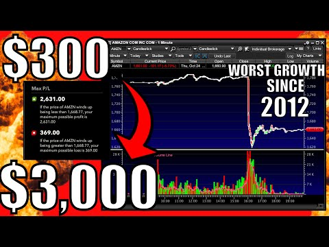 AMAZON STOCK CRASHES – Is The Stock Market Next? – My Watchlist – How To Trade Earnings