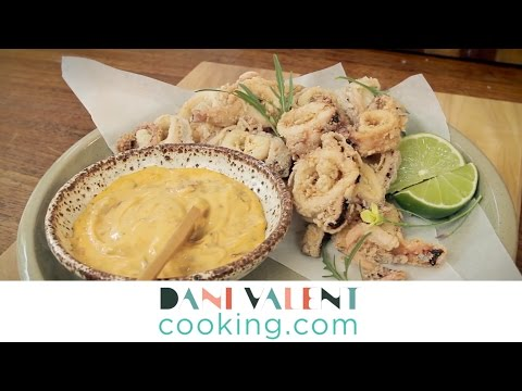 DANI VALENT COOKING: Fried Calamari & Chipotle Mayonnaise teaser - Thermomix recipe and video demo