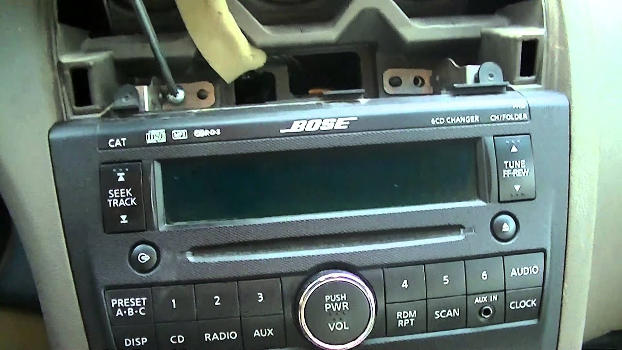 remove nissan altima  radio ac control youtube