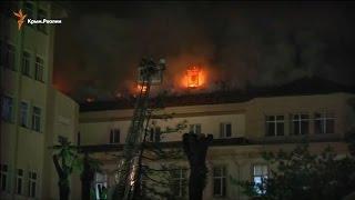 Пожар уничтожил крышу больницы в Анкаре