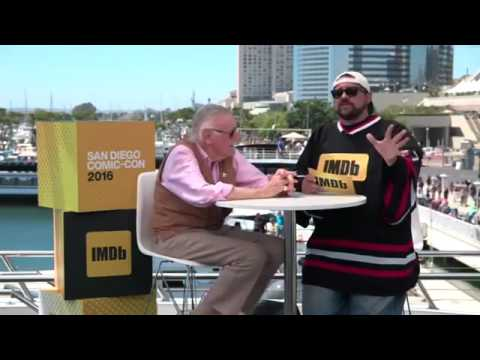 The great Stan Lee is talking 'Cosmic Crusaders' with Kevin Smith LIVE from #ComicCon