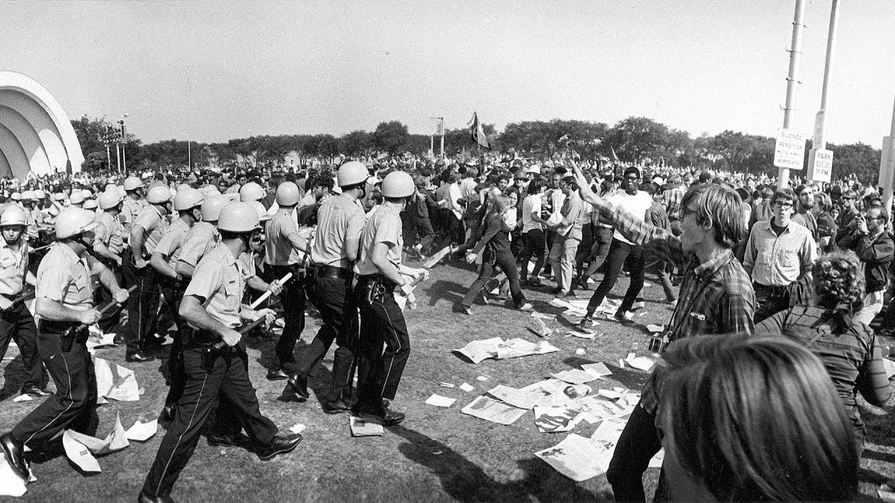 50 Years Ago: Antiwar Protesters Brutally Attacked in Police Riots at 1968  Democratic Convention - YouTube