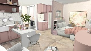 BARBIES MICRO APARTMENT + CC LINKS | The Sims 4 | CC Speed Build