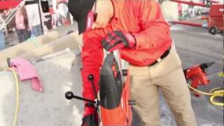 INTRODUCING the Hilti diamond core drill DD 150-U - World of Concrete 2012